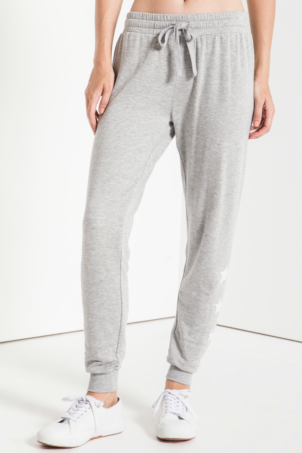 z supply Linear Star Soft Jogger - Front Full Image