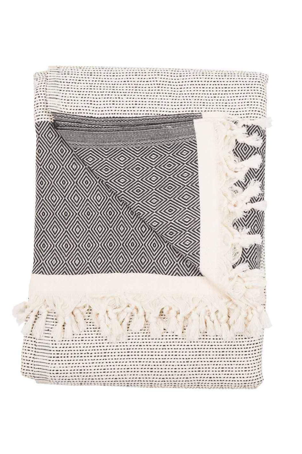 Pokoloko LINED DIAMOND BLANKET - Main Image
