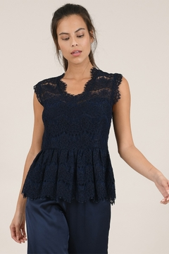 Molly Bracken Lined Lace Tank - Product List Image