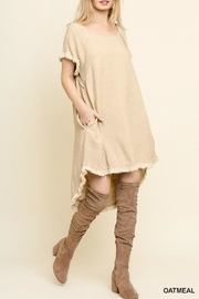 Umgee USA Linen Blend Dress - Product Mini Image