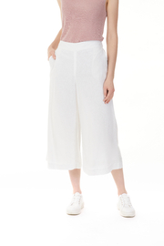 Charlie B. Linen Blend Palazzo Pant - Front full body