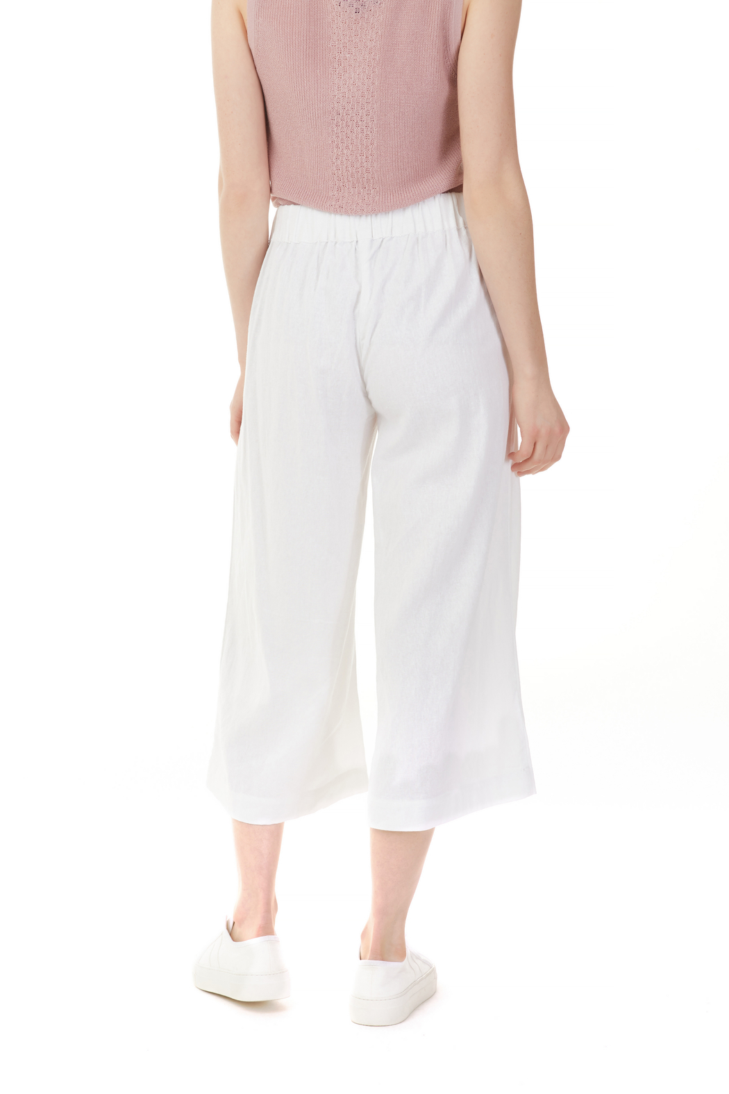 Charlie B. Linen Blend Palazzo Pant - Side Cropped Image