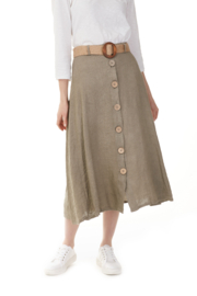 Charlie B Linen Blend Skirt w/ Belt - Product Mini Image