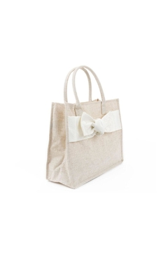 Mainstreet Collections Linen Bow Tote - Alternate List Image