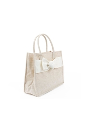 Mainstreet Collections Linen Bow Tote - Product Mini Image