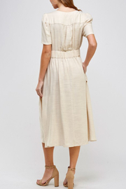 Ellison Linen Button Detail Dress - Front full body