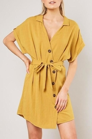 Mustard Seed Linen Button-Down Dress - Product Mini Image