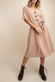Mittoshop Linen Button-Down Midi-Dress - Product Mini Image