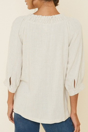 Hayden Los Angeles Linen Button-Down Top - Front full body