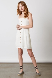 Bio Linen Button Dress - Product Mini Image