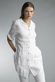 Tempo Paris Linen Button-Up Shirt - Product Mini Image