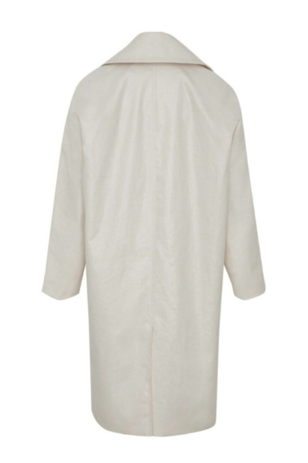 Martin Grant LINEN COCOON COAT - Back Cropped Image