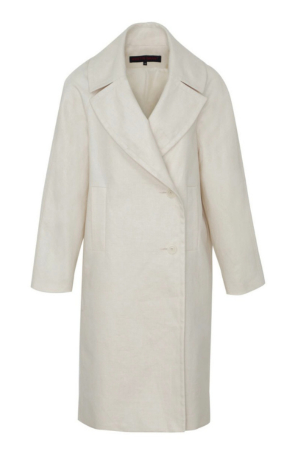 Martin Grant LINEN COCOON COAT - Side Cropped Image
