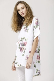 Miss Rose Sister Violet Linen Contessa Top - Side cropped