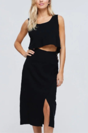 crescent Linen Crop Top - Front cropped