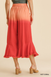 umgee  LINEN DIP DYE WIDE LEG PANTS - Side cropped