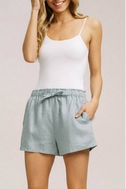 Listicle Linen Drawstring Shorts - Front cropped