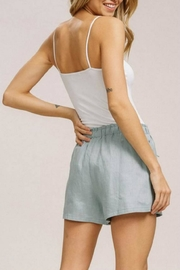 Listicle Linen Drawstring Shorts - Side cropped