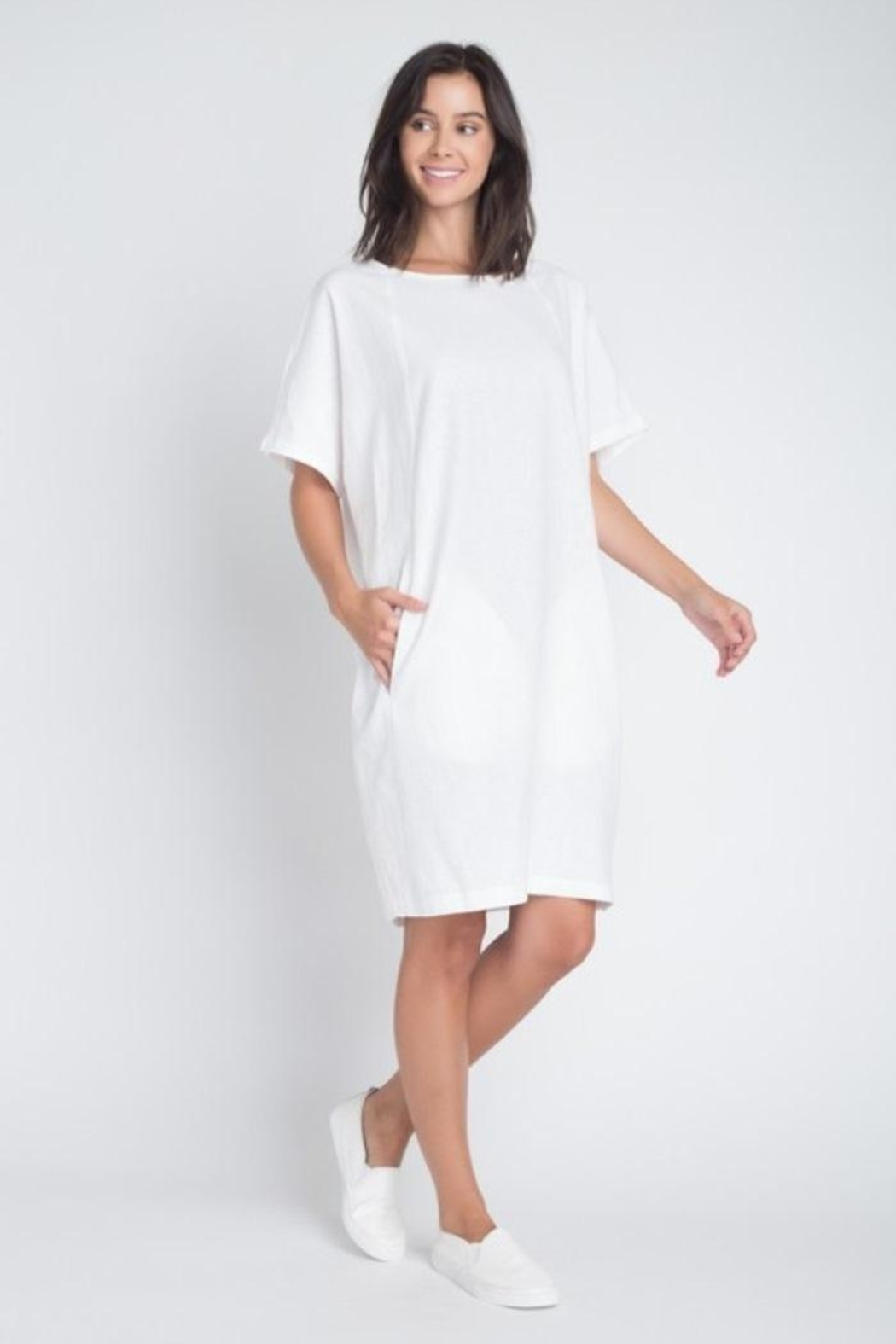 Anemone Linen Dress - Front Full Image