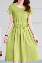 Fashion Pickle Linen Dress Green - Product Mini Image