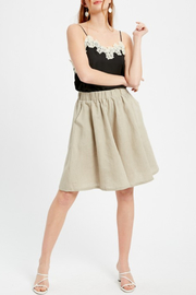 Listicle Linen Flared Culottes - Product Mini Image