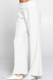 4our Dreamers Linen Foldover Waist Pant - Product Mini Image