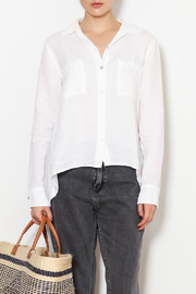 Cut Loose Linen Hi-Low Shirt - Product Mini Image