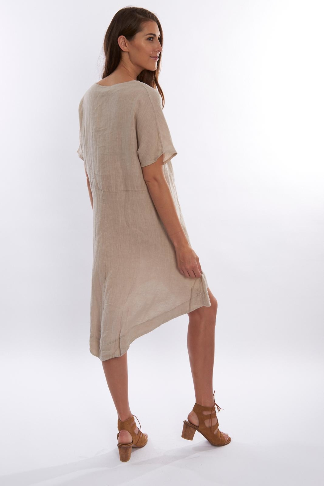 Sagaform Linen High-Low Dress - Front Full Image
