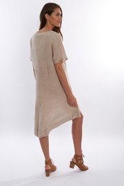 Sagaform Linen High-Low Dress - Front full body