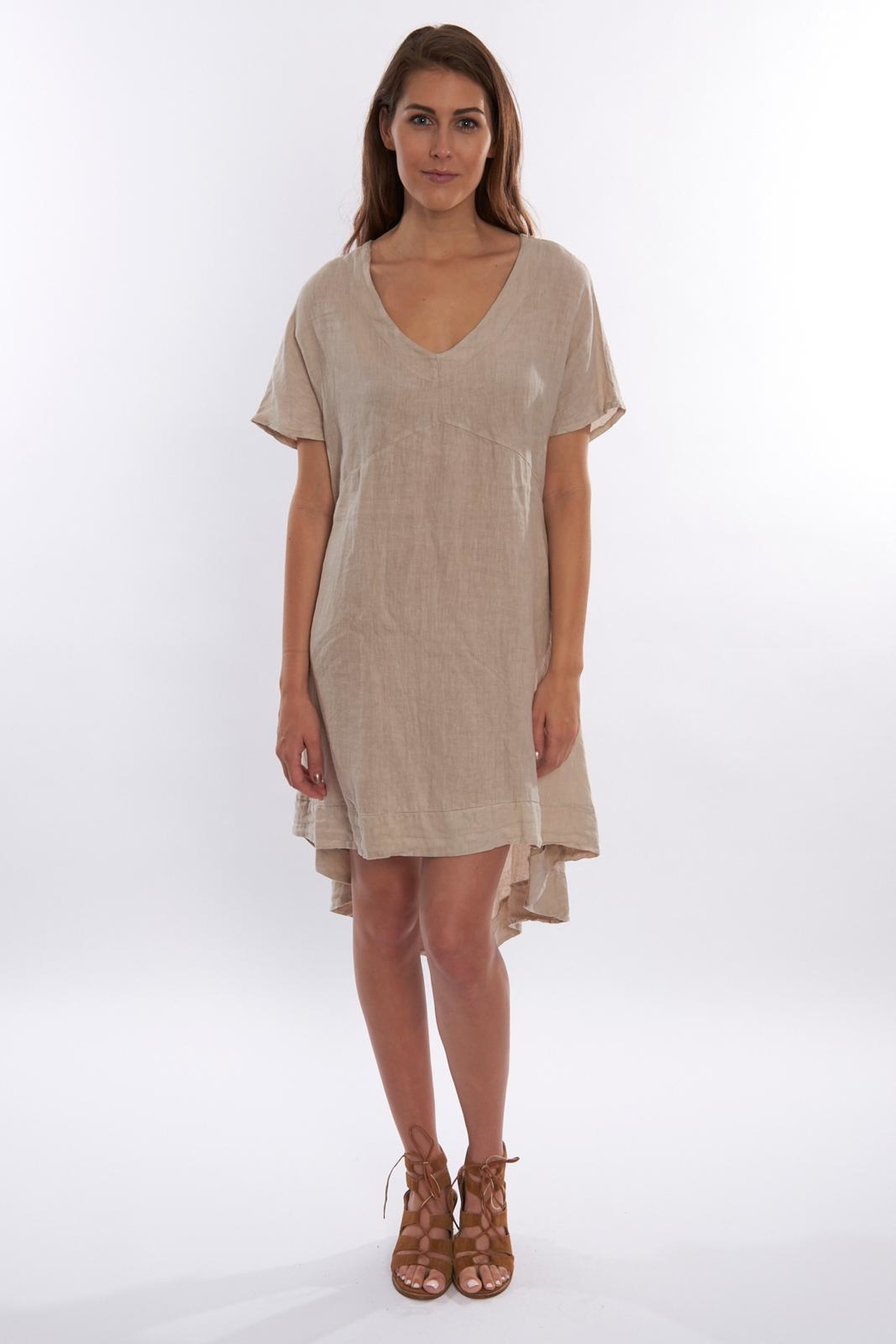 Sagaform Linen High-Low Dress - Main Image