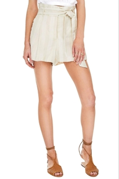 Shoptiques Product: Linen High Waisted Shorts