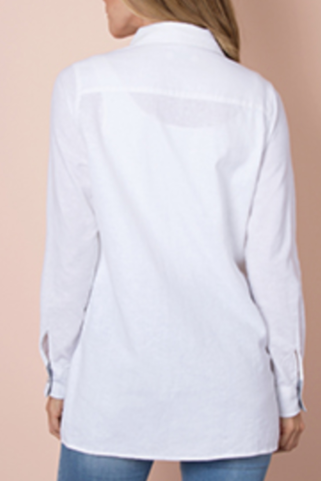 Simply Noelle Linen it Up Top - Back Cropped Image