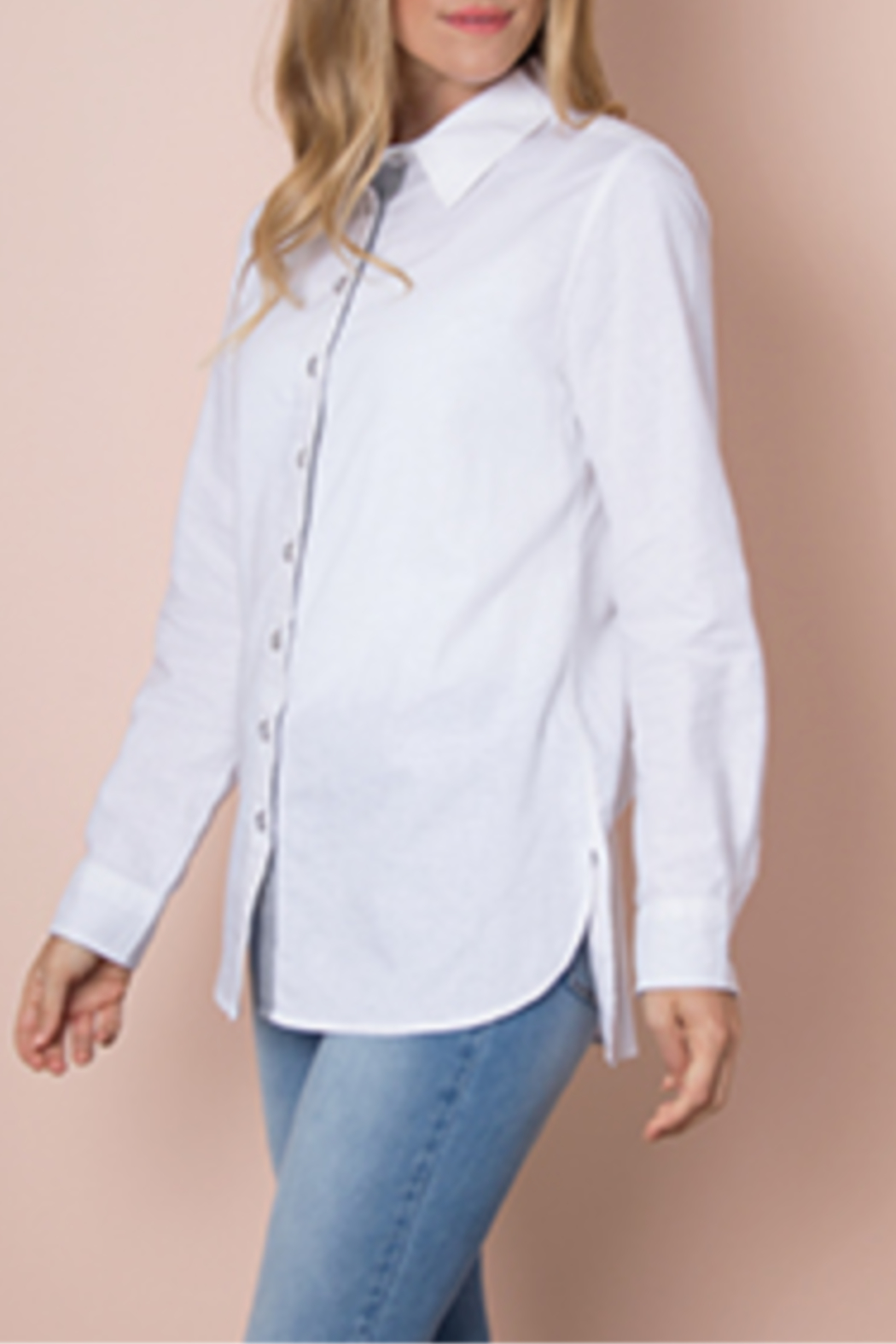 Simply Noelle Linen it Up Top - Side Cropped Image