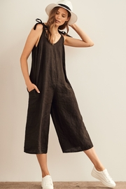 Charlie B Linen Jumpsuit - Product Mini Image