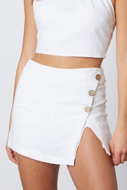 Cotton Candy  Linen Like Skort - Front cropped