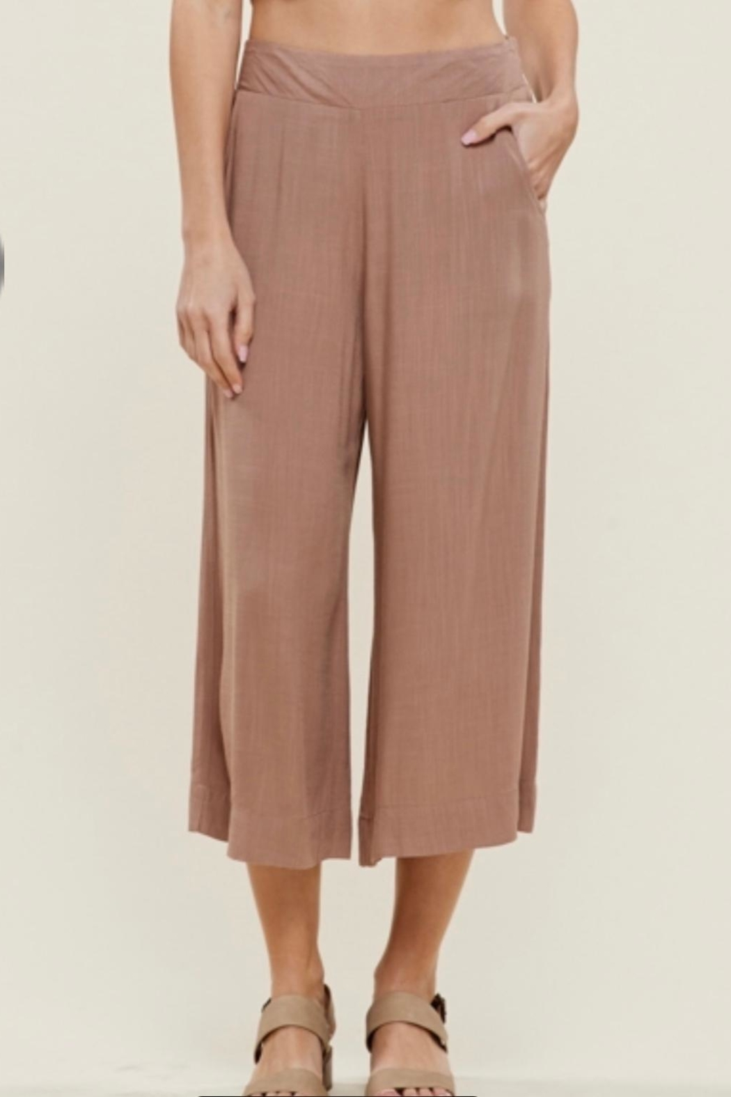 Staccato Linen Look Culottes - Main Image