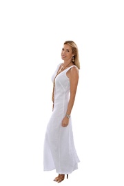Haris Cotton  Linen Maxi Dress - Product Mini Image