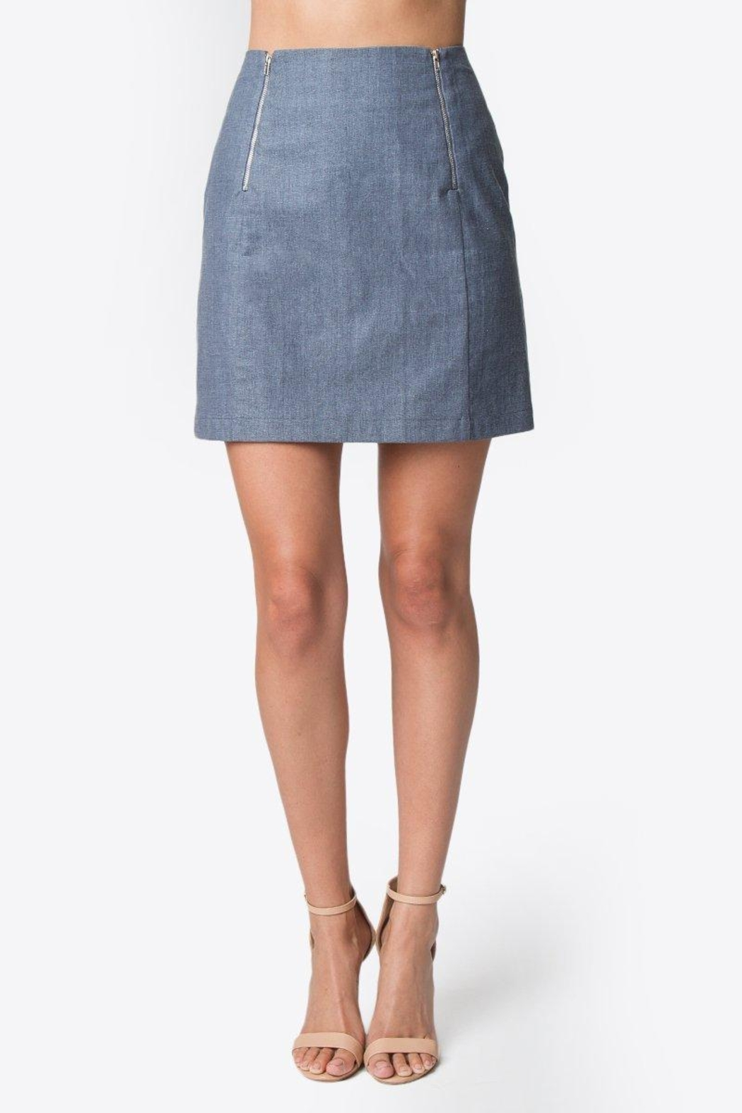 Sugar Lips Linen Mini Skirt - Front Full Image