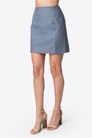 Sugar Lips Linen Mini Skirt - Side cropped