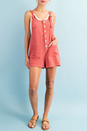 ee:some Linen Mix Romper - Product Mini Image
