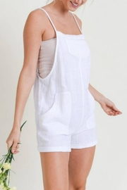 Doe & Rae Linen Overall Romper - Side cropped