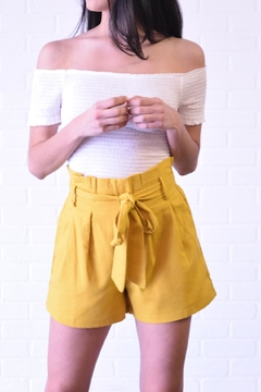 The Sang Linen Paperbag Shorts - Product List Image
