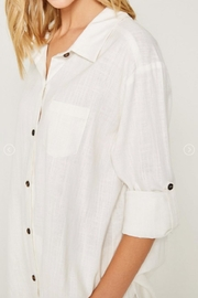 Hayden Los Angeles Linen-Pocket Tunic, Offwhite - Other