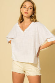 HYFVE Linen Poncho Top - Product Mini Image