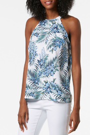 TRISTAN Linen Printed Halter Top - Product Mini Image