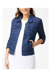Tommy Bahama Linen Raw-Edge Jacket - Front cropped