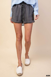 R+D  Linen Cuffed Short - Product Mini Image