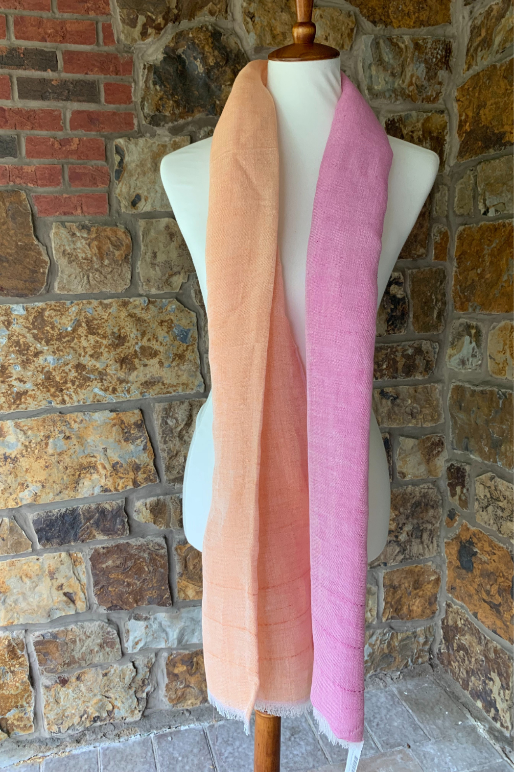 Concepts Source Linen Scarf - Front Cropped Image