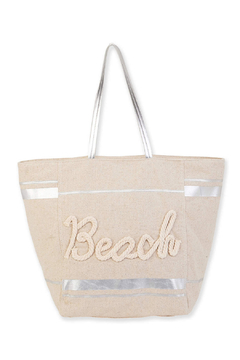 sun and sand Linen Shoulder Tote - Product List Image