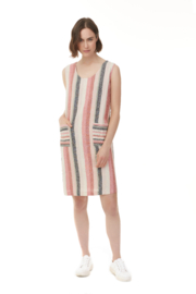 Charlie B. Linen Stripe Dress - Product Mini Image